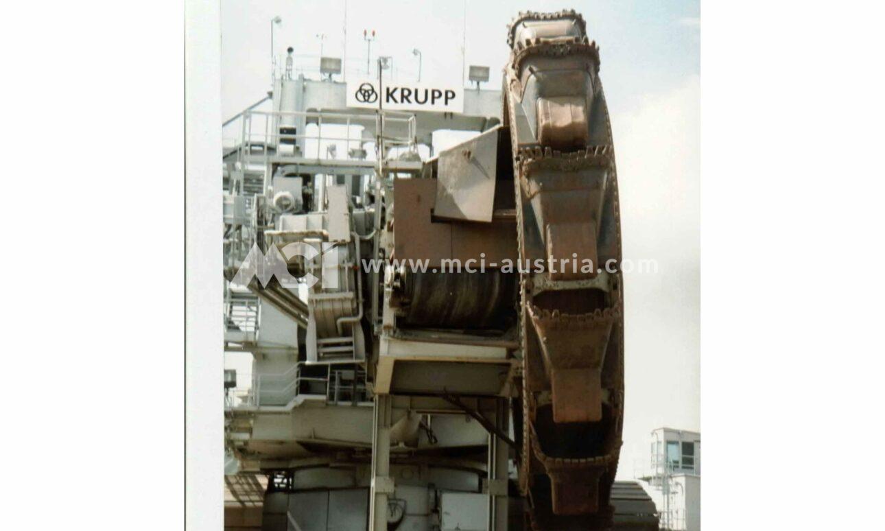 Used Bucket Wheel Excavator for sale Krupp still
